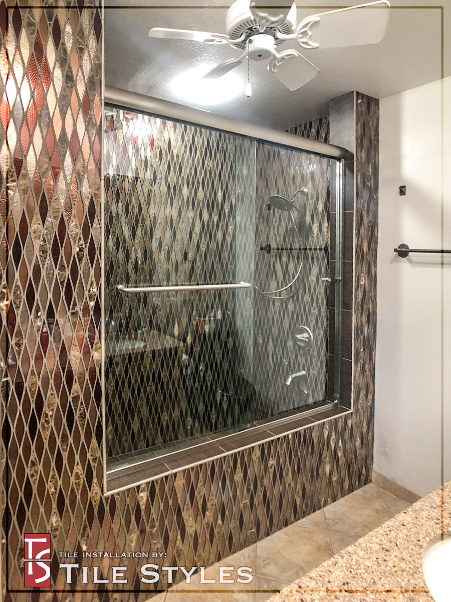 Mosaic Roman Tub 5 Glass Doors Tile Styles Hawaii